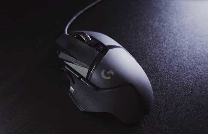Logitech G502 HERO design