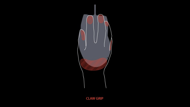 focus su impugnatura Claw grip