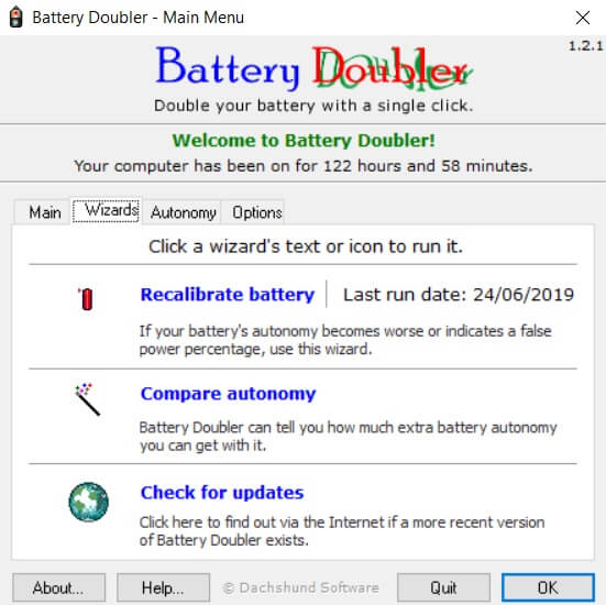 calibrare batteria con battery doubler