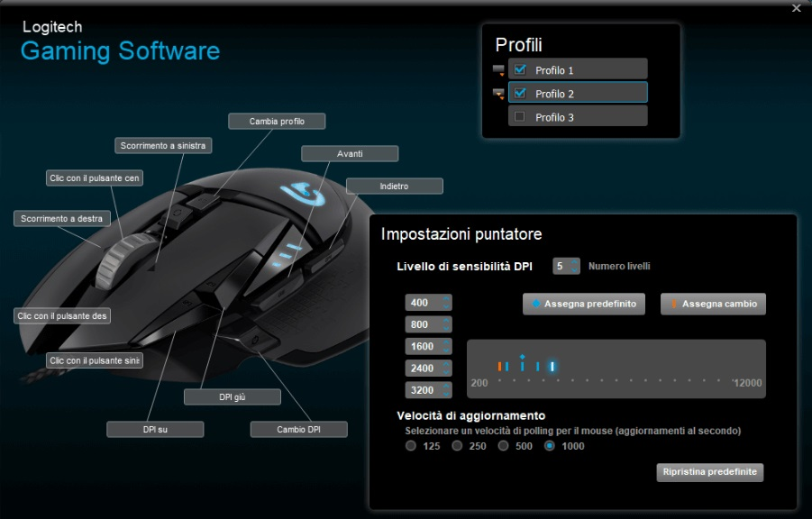 modificare dpi mouse via software