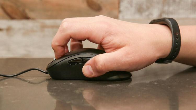Impugnature del mouse: palm vs claw vs fingertip grip