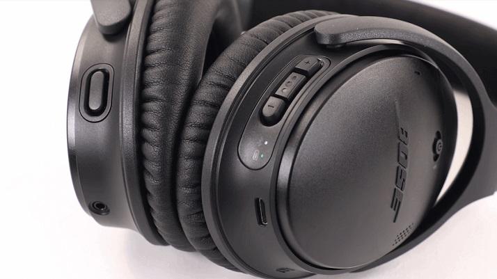 Bose QuietComfort 35 II, focus sui controlli remoti in cuffia